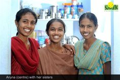 """""""We are a family of four very strong women"""", says 20 year old Aruna. Living with her mother and sisters at Yadagirigutta in Hyderabad, Telangana, she distinctly remembers the day their father. Smile Foundation, Youth Employment, Family Of Four, 20 Years Old, Strong Women, Sari, Sayings, Fashion, Saree"""