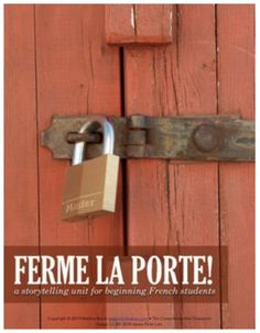 Click on image to access lesson plans: learn French with authentic sources