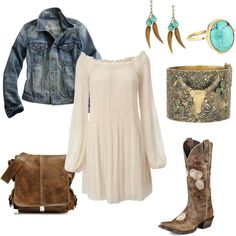 What is wrong with me? I think an outfit involving cowgirl boots is absolutely adorable!!!