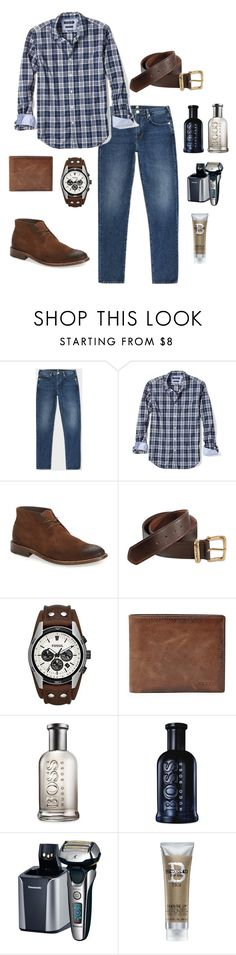 """""""Men's outfit"""" by puppylove7 ❤ liked on Polyvore featuring PS Paul Smith, Banana Republic, To Boot New York, Carhartt, FOSSIL, HUGO, Panasonic, Bed Head by TIGI, men's fashion and menswear"""