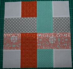 Woven Quilt Block Tutorial 4- would be fun to make this as a whole quilt... 1 giant block 5 fabrics total.