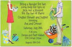 Jack and Jill Bridal Shower Invitations, 28561