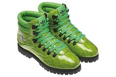 Jeremy Scott makes it a hell of a lot of fun with these eye-popping JS hiking boots!