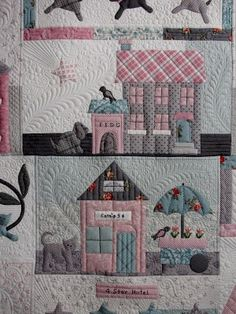 Jan Hutchison's quilting - This is a cute Bunny Hill design called Raining Cats and Dogs made by Mary from Charlotte's Sew Natural in Newton.