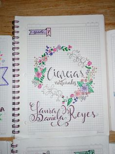 Doodles, School Notebooks, Decorate Notebook, Notebook Design, Notebook Covers, Study Inspiration, School Notes, School Hacks, Study Notes