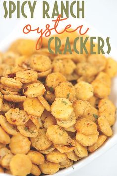 These spicy ranch oyster crackers are the perfect go to snack that the whole fam. These spicy ranch oyster crackers are the perfect go to snack that the whole family will enjoy. Oyster Cracker Snack, Seasoned Oyster Crackers, Spicy Crackers, Ranch Oyster Crackers, Spicy Ranch Crackers Recipe, Party Crackers Recipe, Seasoned Saltine Crackers, Crack Crackers, Fire Crackers