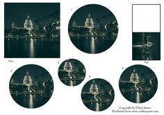 London Thames View of St Pauls Gift Tag Shaped Pyrimage on Craftsuprint - Add To Basket!