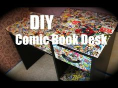 Awesome DIY desk design idea! I'm going to do this for my Africa themed bedroom with pictures of African wildlife xD