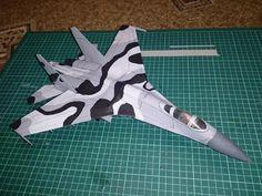 Sukhoi Su-27 Flanker Fighter Ver.2 Free Aircraft Paper Model Download - http://www.papercraftsquare.com/sukhoi-su-27-flanker-fighter-ver-2-free-aircraft-paper-model-download.html#150, #AircraftPaperModel, #Fighter, #Flanker, #Su27, #Sukhoi, #SukhoiSu27