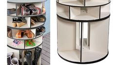 Spinning Shoe Rack Gift for Her Revolving Shoe Tower is a Lazy Susan Shoe Tower Rotating Shoe Rack Spinning Shoe Rack, Rotating Shoe Rack, Shoe Storage Unit, Shoe Storage Solutions, Storage Ideas, Cheap Storage, Storage Rack, Creative Storage, Lazy Susan Shoe Rack
