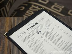 Cassis Bistro Bar menus - Paperview Graphic Design