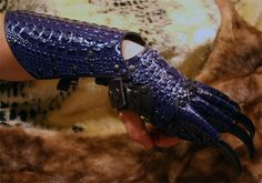 Gauntlets with claws Godzilla Costume, White Dragon, Fantasy Weapons, Gloves, Leather, Claws, Masks, Writing, Inspiration