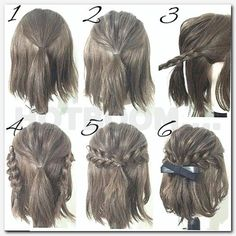 Half Up Hairstyles For Brief Hair # Hair # Coiffure # Coiffure Haircourt # Coiffure Hairlong Easy Hairstyles For Long Hair, Pretty Hairstyles, Amazing Hairstyles, Short Braided Hairstyles, Homecoming Hairstyles Short Hair, Wedding Hairstyle Short Hair, Simple Elegant Hairstyles, Latest Hairstyles, Bangs Hairstyles Sideswept