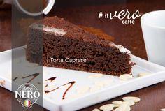 Torta Caprese: Farinha de amêndoas, chocolate belga 70% e laranja #tortacaprese  #glutenfree  #dolcenerocafes  #ilverocaffe  #floripa  #illy