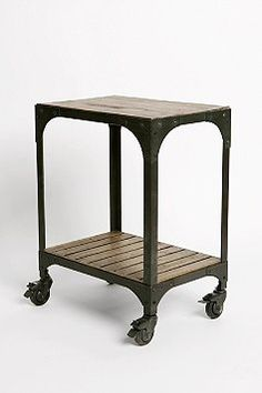 This is an interesting little side table/bedside table. Very industrial.