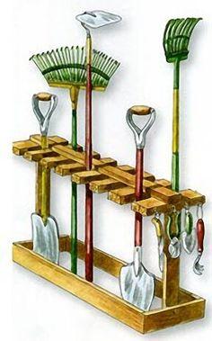 16 ideas garden tool storage ideas diy # storage Source by senestm Tools storage Storage Shed Organization, Garage Organisation, Garage Tool Storage, Diy Storage, Storage Ideas, Garden Yard Ideas, Diy Garden, Garden Tools, Diy Projects Landscaping