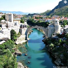 Mostar, Bosnia - would love to visit one day - so glad to see that this bridge has been rebuilt!
