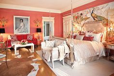 And here is the end result! Mrs. Doheny's bedroom. Greystone Mansion -- Maison de Luxe showcase house.  By my firm W.
