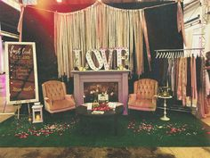 Our 'LOVE' marquee is a favourite with many of our clients.  Booth set up at LOT 42 Kitchener ON.