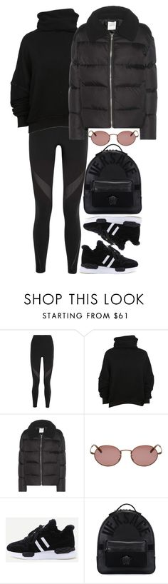 """""""#"""" by bruna-linda-12 on Polyvore featuring moda, NIKE, Unravel, Wood Wood, Oliver Peoples e Versace"""