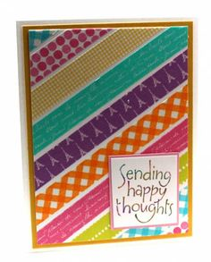 Washi tape card by SoSherry - Cards and Paper Crafts at Splitcoaststampers