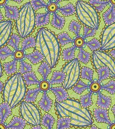 """""""Jardin Loco"""" fabric by Groovity, available at Spoonflower.com. Designed by Mary Tanana"""