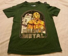 744805df3c97e Boy Tee Shirt Sz XS 5 Old Navy Collectabilitees Star Wars Heavy Metal Green Tee  Shirts