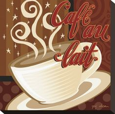 Cafe au Lait Giclee Print by P.j. Dean at AllPosters.com