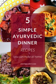 Making tasty and nutritious Ayurvedic food that helps you heal from the inside out doesn't have to be hard. Check out these ayurvedic dinner recipes for some of our favourite home made eats.