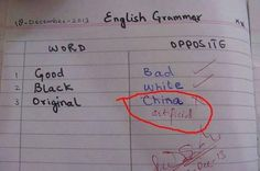 China Why was this marked as incorrect?