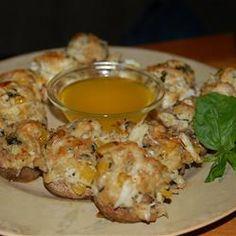 Crab and Lobster Stuffed Mushrooms