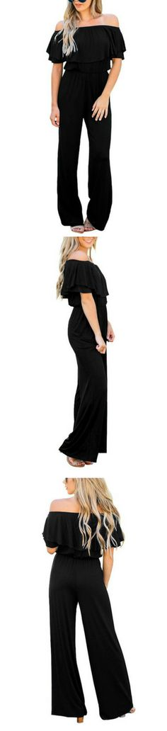 cf7183ea337d42 Amazon Finds    Create a fun outfit with this off-shoulder high waist  jumpsuit. Shop one now.