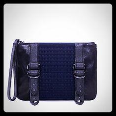 👜🎀Juicy couture wrist pouch Blue canvas pouch Juicy Couture Bags
