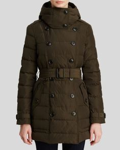 burberry brit allerdale mid length down puffer coat