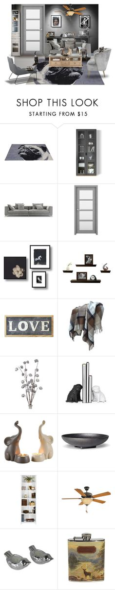 """CONTEST ENTRY: Shades of Grey #1"" by bnspyrd ❤ liked on Polyvore featuring interior, interiors, interior design, home, home decor, interior decorating, WALL, KARE, Savanna and Parlane"