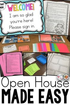 Stations will make your open house or meet the teacher event a structured, well-managed time, and make a great first impression on parents for back to school!