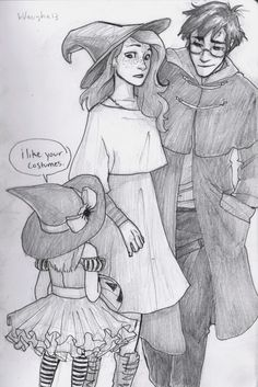 spookyburdge:  harry and ginny unwittingly find themselves in muggle london a little too close to halloween