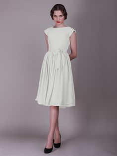 Rehearsal Dinner Dress. Cap Sleeved Vintage Bridesmaid Dress with Faux Buttons | Plus and Petite sizes available! Hundreds of styles, tons of colors!