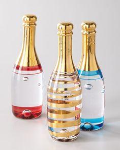 """Celebrate"" Champagne Bottle by Kosta Boda at Neiman Marcus."