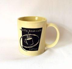 Vanilla Bean Cafe coffee #mug pomfret #connecticut verse yellow advertising cup