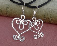 Mother Daughter Celtic Heart Pendants, Celtic Jewelry, Celtic Knot Heart Jewelry Matching Necklaces Sterling Silver, Mommy and Me, Women