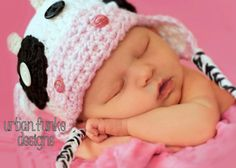 Crochet Photo Prop Cow Hat and Diaper Cover Infant Newborn Baby Girl on Etsy, $36.00