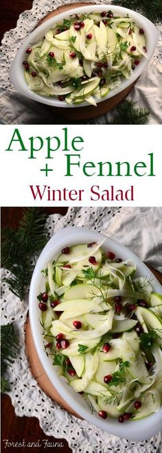 Apple Fennel Winter Salad - http://www.forestandfauna.com/