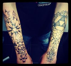 Tatouage inspiration Zelda by Merries Melody tattooshop66 • http://merriesmelody.com
