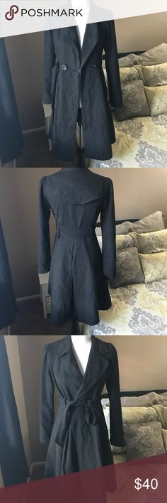 "Long Trench coat Long black trench coat. I am so sad to see this go but it's too small for me 😭 🚫No stains or holes 🚫 No trades 📏 the length is 36"" long 📏 Arms length is 24.5"" long 📏 chest 16"" long Jackets & Coats Trench Coats"