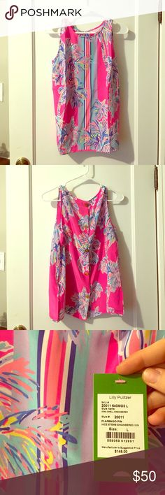 Lilly Pulitzer 100% Silk Sleeveless Blouse. Brand new, never worn Lilly Pulitzer top. Start out spring in style with this colorful, fun top! This top is beautiful and made of 100% silk. Like all Lilly Pulitzer items, it will be a quality piece to add to your wardrobe. Lilly Pulitzer Tops Blouses