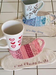 Mug Rugs - I like this for me, but I also wonder if the girls would like this for their tea set.  Cute gift idea.