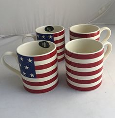 Lauren Home Hamptons USA Flag Mug Set of 4 >>> Check out this great product.