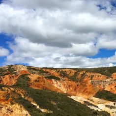 Painted hills of Bogota #bogota #bogotacolombia #rocks #hills #colors #paintedhills #sky #clouds #colombia #southamerica #clouds