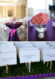 love the golf tee place card holders!